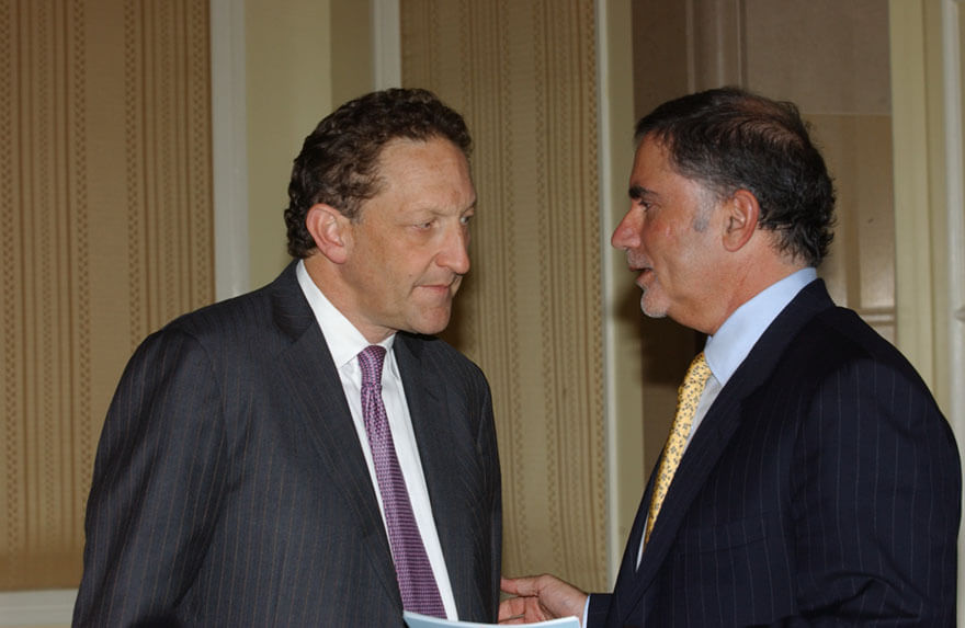 Larry Baer 49ers + Phil Bronstein Publisher SFChron-min